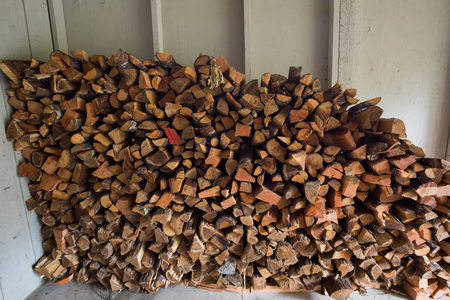Stacked Firewood at Cabin