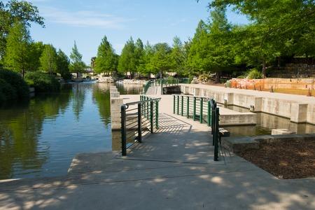 Historic San Antonio River Walk Stock Photo
