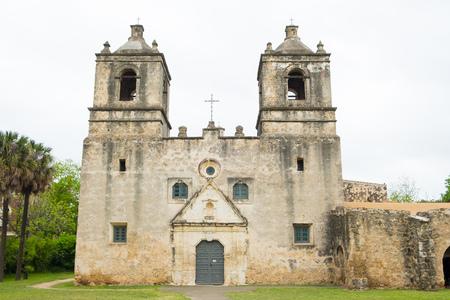 Very old Mission Concepcion or Conception in San Antonio Texas. Reklamní fotografie