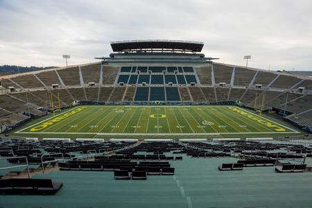 Autzen Stadium in Eugene Oregon at the University of Oregon Editorial