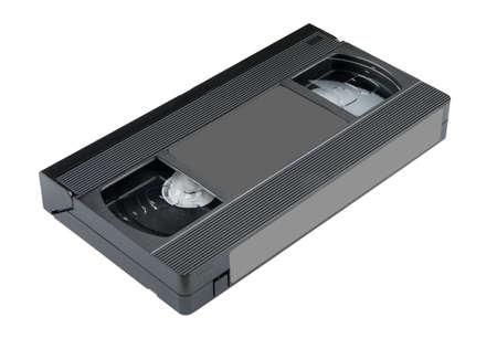 videocassette: tape side on Stock Photo