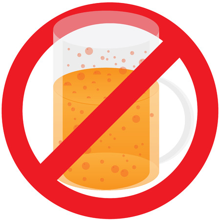 Ban of Alcohol Vector