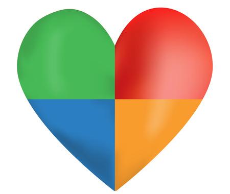 closeness: Colorful Vector Heart
