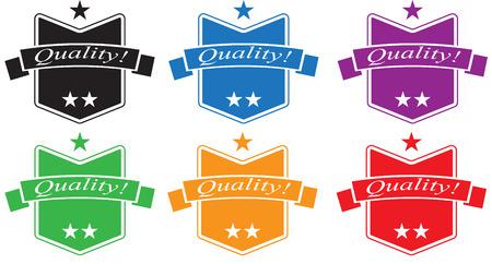 Quality Sticker Set Illustration