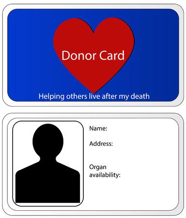 donacion de organos: Tarjeta de Donante