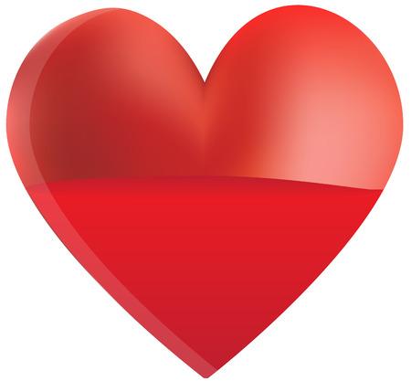 myocardial infarction: Red Heart Fill Illustration