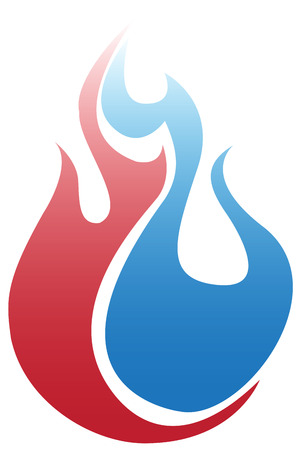 Blue and Red Fire Vector