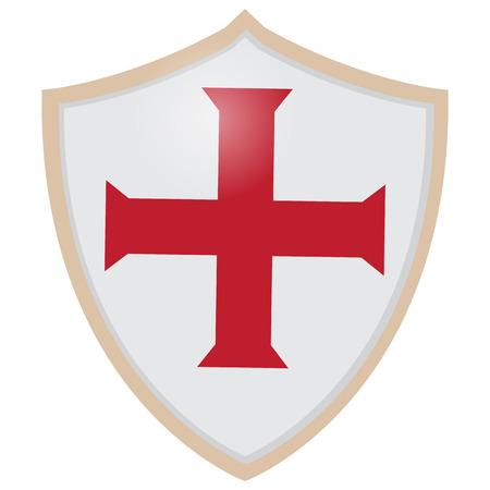 knights templar: Medieval Shield Illustration