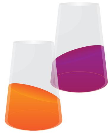 sip: Naranja y jugo de grosella negra Vectores