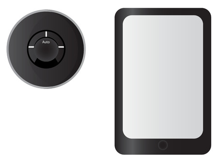 thermostat: Smart Thermostat and Tablet