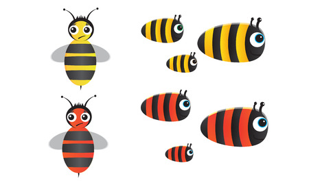 Bee Series Vector