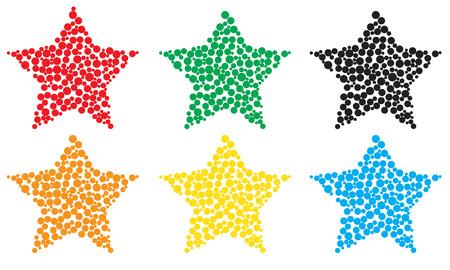spachteln: Stern f�llen