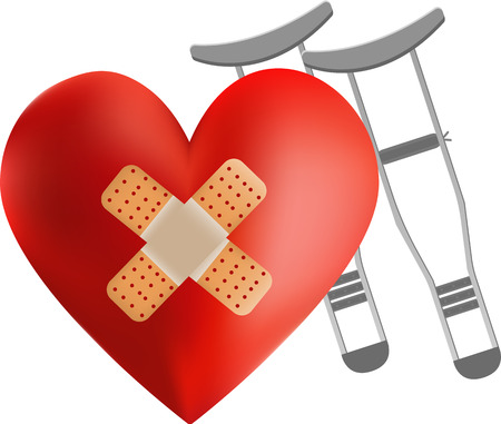 gash: heart bandage illustration Illustration