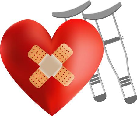 heart bandage illustration Illustration