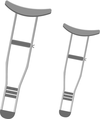 axilla: Crutches Illustration
