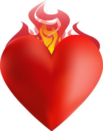 Herz auf Feuer Standard-Bild - 33031963