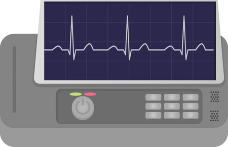 electrocardiograph: ECG Machine Illustration