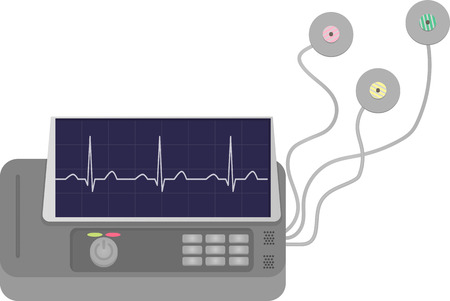 electrocardiograph: ECG Machine with Pads