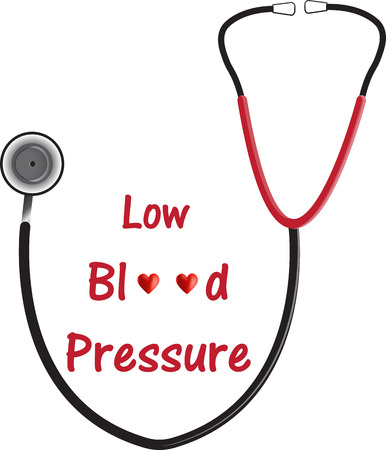 clogged: Low Blood Pressure (Hypotension) Illustration