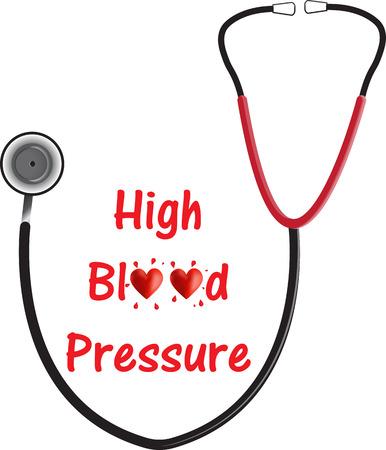 High Blood Pressure (Hypertension) Vektoros illusztráció
