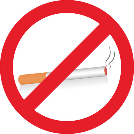 smokers: Cigarette Ban Illustration