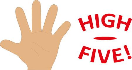 alto: High Five Ilustración Mano