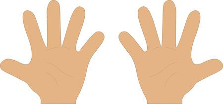 pinky: Cartoon Style Hands