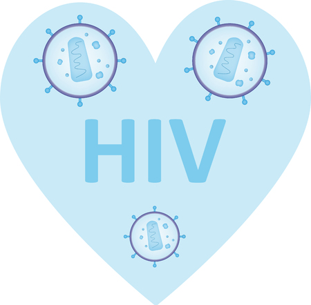 forgiveness: HIV Heart Stock Photo