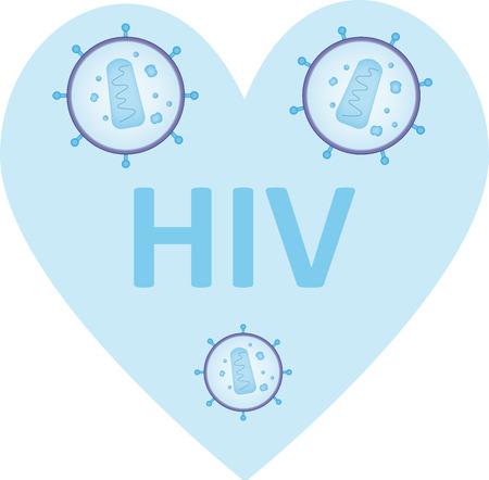 HIV Heart Ilustrace