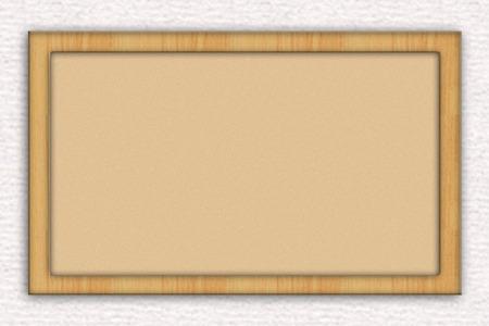 A graphic blank bulletin board or cork board against brick background Reklamní fotografie