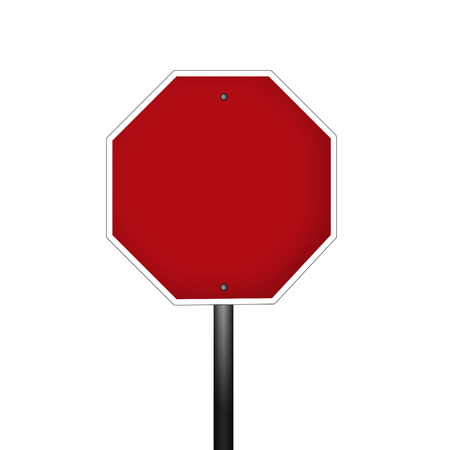 with stop sign: Isolated blank graphic stop sign Stock Photo