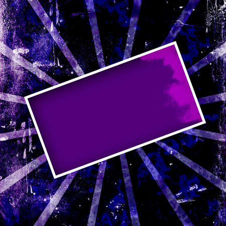 Dark purple and blue grungy frame or background.