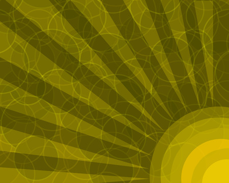 Orange retro colored background with layered circles pattern.