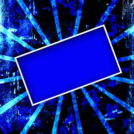Dark blue grungy frame or background.
