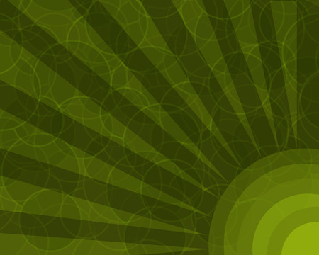 A retro colored background with layered circles pattern.
