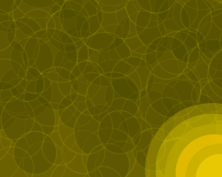 An orange retro colored background with layered circles pattern.