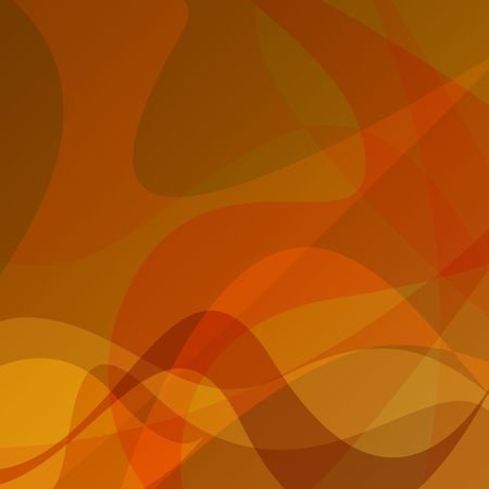 Graphic illustration orange abstract background with fall shades.