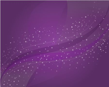 Graphic purple sparkly background with different shades of swoops and swirls.
