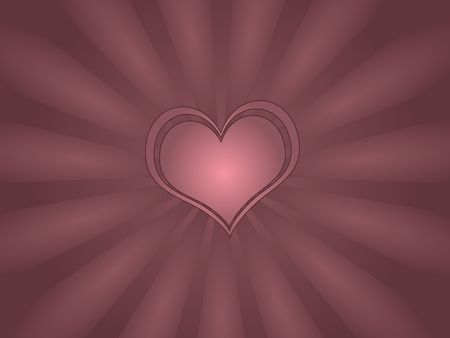 Gradient vortex against darker pink background with single outlined heart. photo