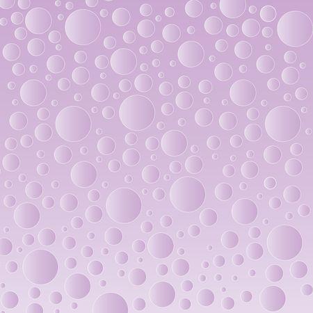 Graphic illustration of random sized bubbles against a purple gradient background.