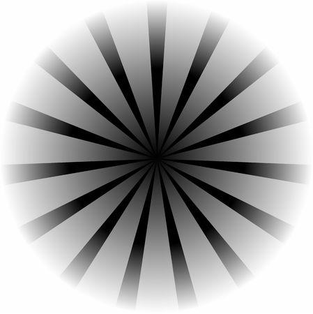 Graphic illustration of black and white vortex.