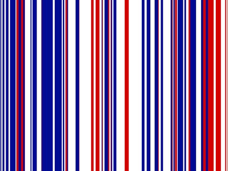 Graphic illustration of striped background in red white and blue colors.