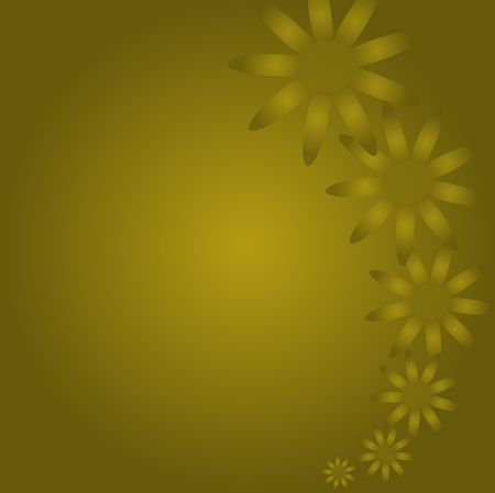 Gold flowers against a darker gradient background.