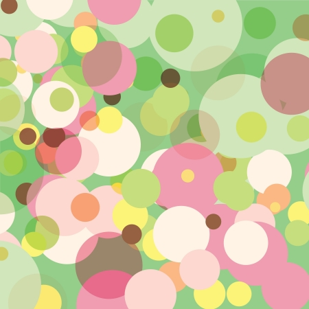 Pastel dots in random sizes against a pale green background. Banco de Imagens