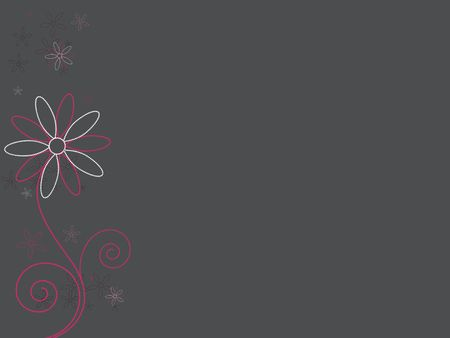 Pink dotted abstract flowers against a dark gray background. 版權商用圖片
