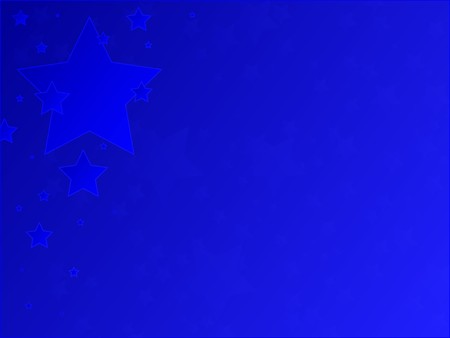 Patriotic blue stars against a blue gradient background. Banco de Imagens