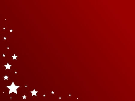 White patriotic stars against a red gradient background. Banco de Imagens