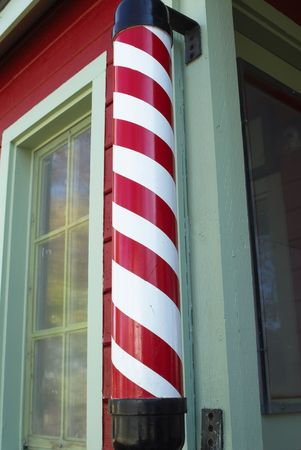 This is a picture of a reproduction of a barber shop. photo