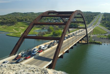 This is a cliff beside the 360 bridge of Austin Texas. Stock fotó
