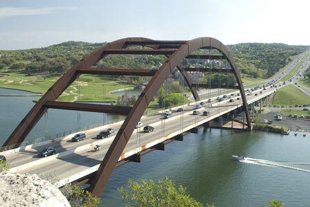 austin: This is the Pennybacker bridge in Austin Texas. Stock Photo